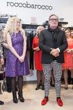 Projektant mody Rocco Barocco na dniu otwarcia pierwszy gatunku sklep w Rosja Obraz Stock