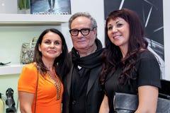 Projektant mody Rocco Barocco na dniu otwarcia pierwszy gatunku sklep w Rosja Obrazy Stock