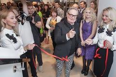Projektant mody Rocco Barocco na dniu otwarcia pierwszy gatunku sklep w Rosja Zdjęcia Stock
