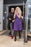 Projektant mody Rocco Barocco na dniu otwarcia pierwszy gatunku sklep w Rosja Obraz Royalty Free