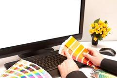projektant pracy charakterystyczny kolor druku prasy przemysłu obrazu pre próbki Fotografia Royalty Free
