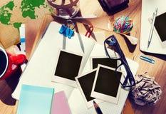 Projektanta biurka narzędzi notatnika Pracującego miejsca Architektoniczny pojęcie Zdjęcie Royalty Free