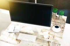 Projektanta desktop wierzchołek Zdjęcia Stock