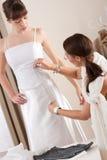 projektanta sukni mody dopasowania modela biel Fotografia Stock