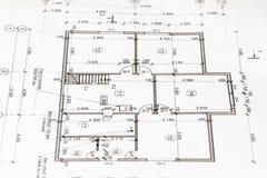 Projektera ett hus som en bakgrund Idén av att bygga ett hus arkivbilder
