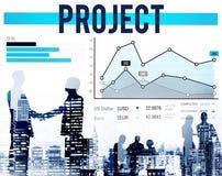 Projektföretag Team Progress Startegy Concept arkivfoton