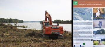 Projektieren Sie Raum für den Fluss IJssel, die Niederlande lizenzfreie stockfotografie