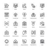 Projektleiter-Linie Vektor-Ikonen stellte 11 ein Lizenzfreie Stockbilder
