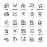Projektleiter-Linie Vektor-Ikonen stellte 20 ein Lizenzfreie Stockfotografie