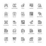 Projektleiter-Linie Vektor-Ikonen stellte 24 ein Lizenzfreie Stockbilder
