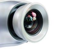 Projektor getrennt auf weißer Nahaufnahme Stockfotografie