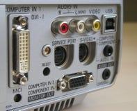 Projektor-Rückwandplatine Stockfotos