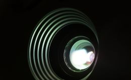 Projektorlinsenphotographie Stockfotografie