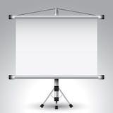 Projektorrollenbildschirm Stockfoto