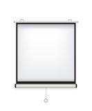 Projektorschirm-Weißillustration Stockfotografie