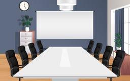 Projektoru ekran w pokoju konferencyjnym ilustracja wektor