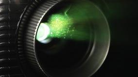 Projektoru obiektyw w akci zbiory