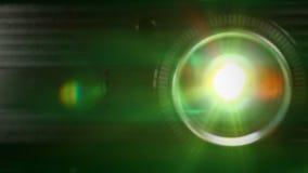 Projektoru obiektyw w akci zbiory wideo