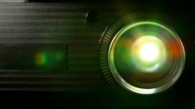 Projektoru obiektyw w akci zdjęcie wideo