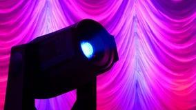 Projektorverschiedenartigkeit, moderne Beleuchtung, Technologie, stock footage