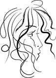 Projektujący dziewczyna abstrakt ilustracja wektor