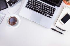 Projektujący workspace z laptopem Obrazy Stock
