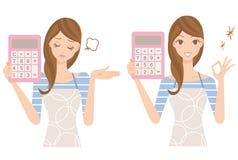 Projektuję rodzinnego finanse z elektronicznym kalkulatorem Fotografia Stock