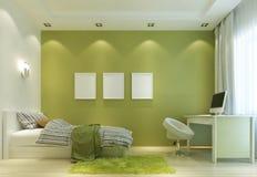 Projektuje dziecko pokój w Współczesnym stylu z a i łóżkiem, ilustracja wektor