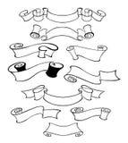 Projektuje elementy dla kartka z pozdrowieniami, sztandary, zaproszenia royalty ilustracja