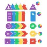 Projektuje geometrycznych infographic szablony dla biznesowego tła, sztandary, strona internetowa Zdjęcie Stock