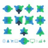 Projektuje geometrycznych infographic szablony dla biznesowego tła, sztandary, strona internetowa Zdjęcie Royalty Free