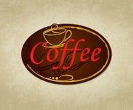 Projektuje kawową etykietkę Fotografia Royalty Free