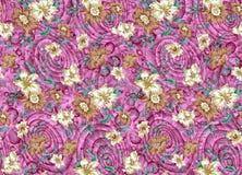 projektuje kwieciste bzu wzoru purpury Zdjęcia Royalty Free