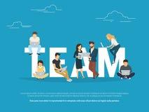 Projektuje pracy zespołowej pojęcia ilustrację ludzie biznesu pracuje wpólnie jak drużyna royalty ilustracja
