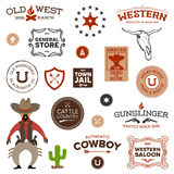 projektuje starego western ilustracja wektor