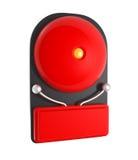 Projektuje wzór Czerwony Pożarniczy alarm odizolowywający na bielu ilustracji