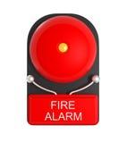 Projektuje wzór Czerwony Pożarniczy alarm odizolowywający na bielu royalty ilustracja