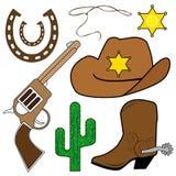 projektów kowbojscy elementy Zdjęcie Stock