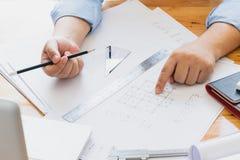 projekty architektów do pracy Zdjęcie Stock