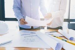projekty architektów do pracy Obraz Stock
