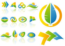 projekty elementów wektora logo Zdjęcia Stock