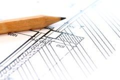Projektzeichnungen Lizenzfreie Stockfotos