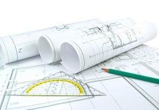 Projektzeichnungen lizenzfreies stockfoto