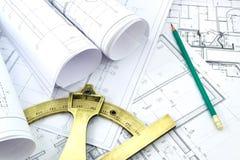 Projektzeichnungen Lizenzfreie Stockbilder