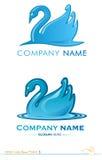 Projet 3 de cygne de logo de vecteur Images libres de droits