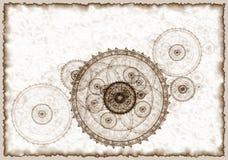 Projet antique d'un mécanisme, grunge illustration stock