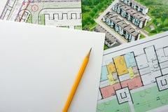 Projet architectural Image libre de droits
