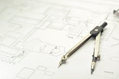 Projet architectural Photographie stock libre de droits