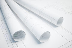 Projet architectural illustration stock