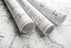Projet architectural photo stock